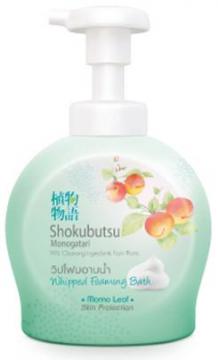 Bọt tắm Shokubutsu Momo Leaf 450ml