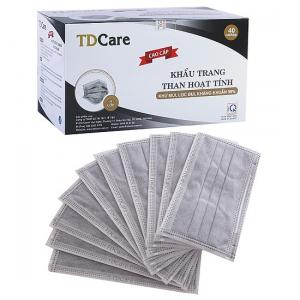 Khẩu trang than hoạt tính cao cấp TDCare 4 lớp (40 cái/ hộp)