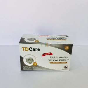 Khẩu trang kháng khuẩn TDcare 4 lớp (màu xám)
