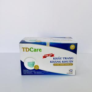 Khẩu trang kháng khuẩn TDcare 4 lớp (màu xanh)