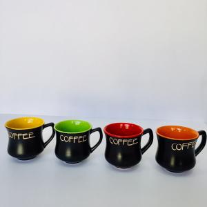 Tách cà phê cao sắc màu (gốm Bát Tràng)