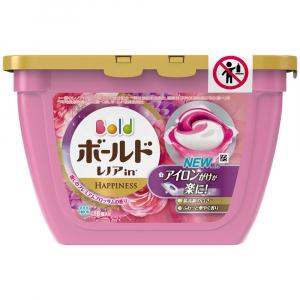 Viên giặt xả Gelball Happiness Nhật Bản hoa hồng (18 viên)