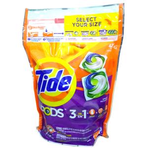 Viên giặt xả Tide Pods 3 trong 1 - gói 42 viên