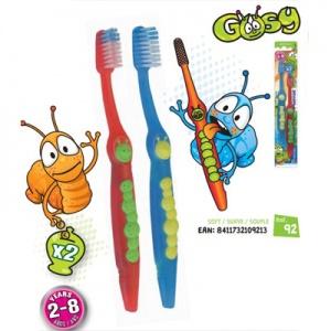 Bộ đôi bàn chải đánh răng trẻ em siêu mềm PIERROT GUSY X2